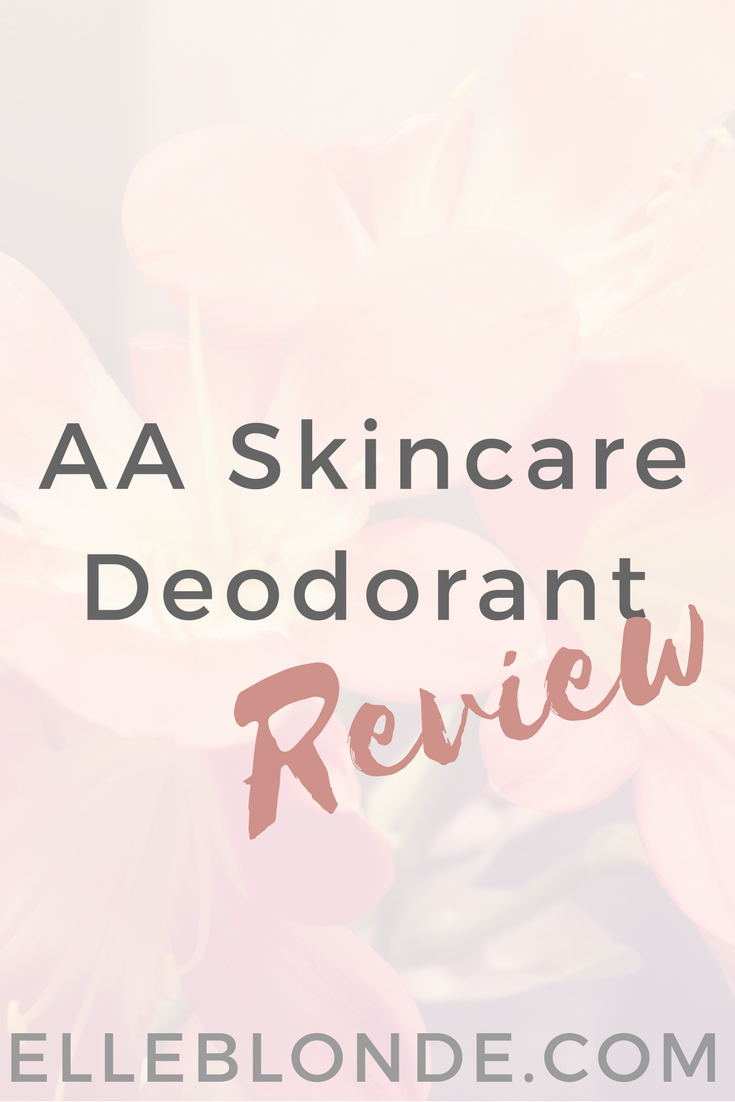 AA Skin Care Roll-On Deodorant Review 1