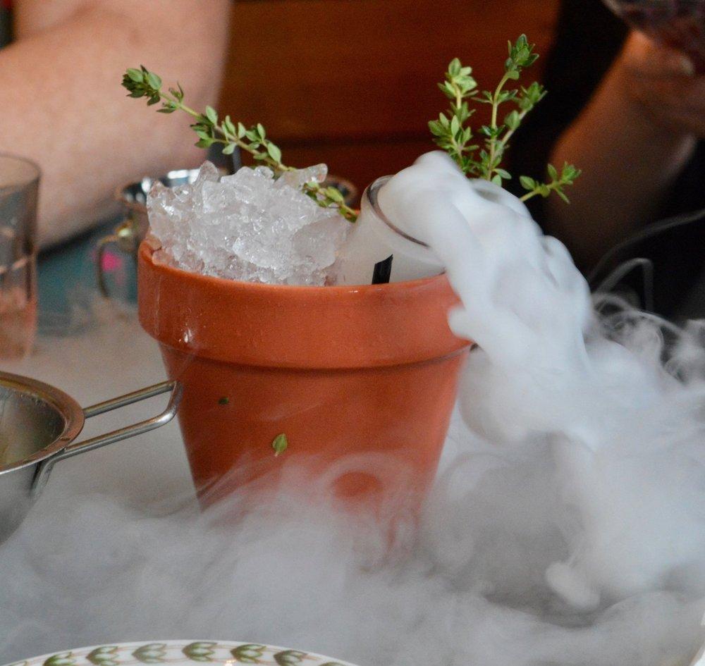 dry-ice-plant-pot-cocktail-the-botanist-newcastle-summer-cocktail-menu-launch-opr-elle-blonde-luxury-lifestyle-blog