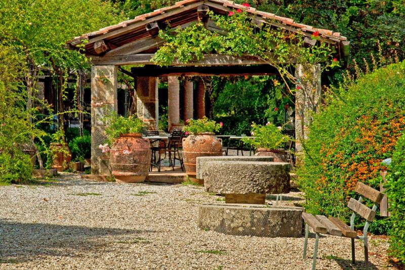Beautiful Garden with a Pergola