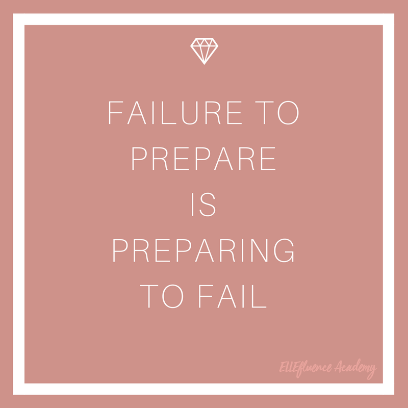 Income Reports Failure to prepare is preparing to fail - Motivational Quotes ELLEfluence Academy