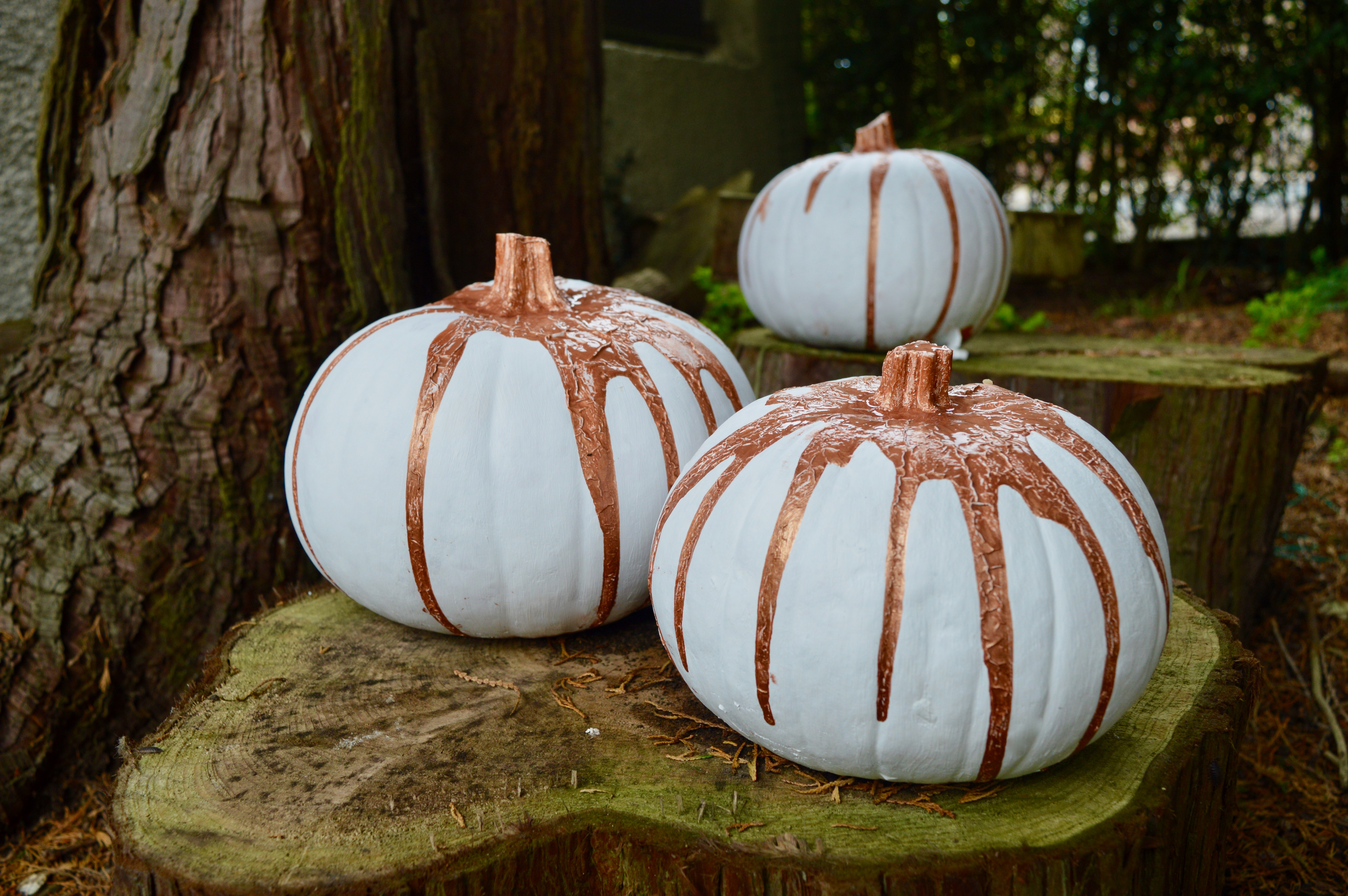 How to paint a pumpkin | Home Interiors | DIY Craft Project | White & Rose Gold | Elle Blonde Luxury Lifestyle Destination Blog