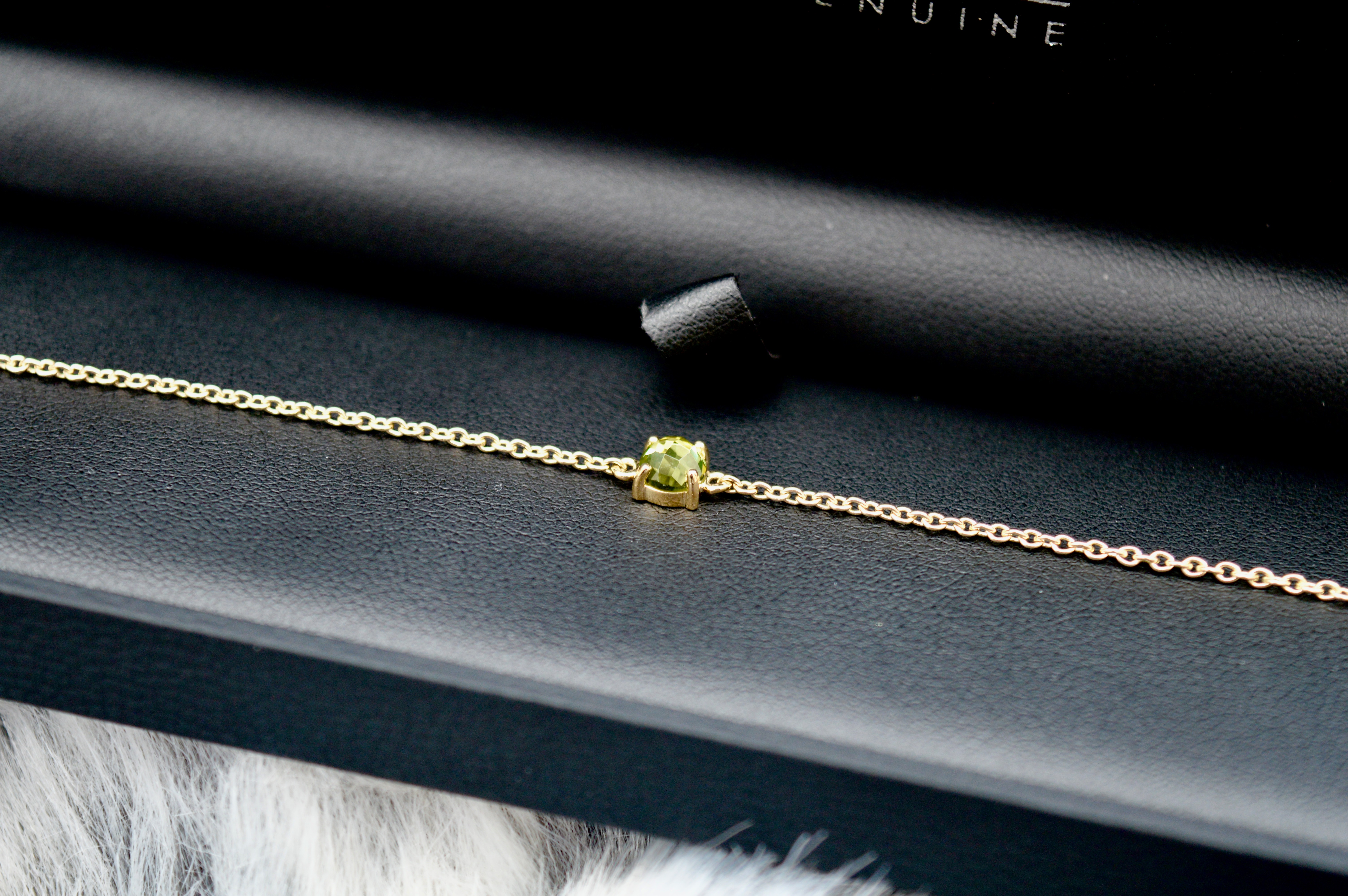 Gemondo Gold and Peridot August Birthstone Bracelet | Memorable Gift | Christmas Gift Guide - What to buy your Grandma | Elle Blonde Luxury Lifestyle Destination Blog