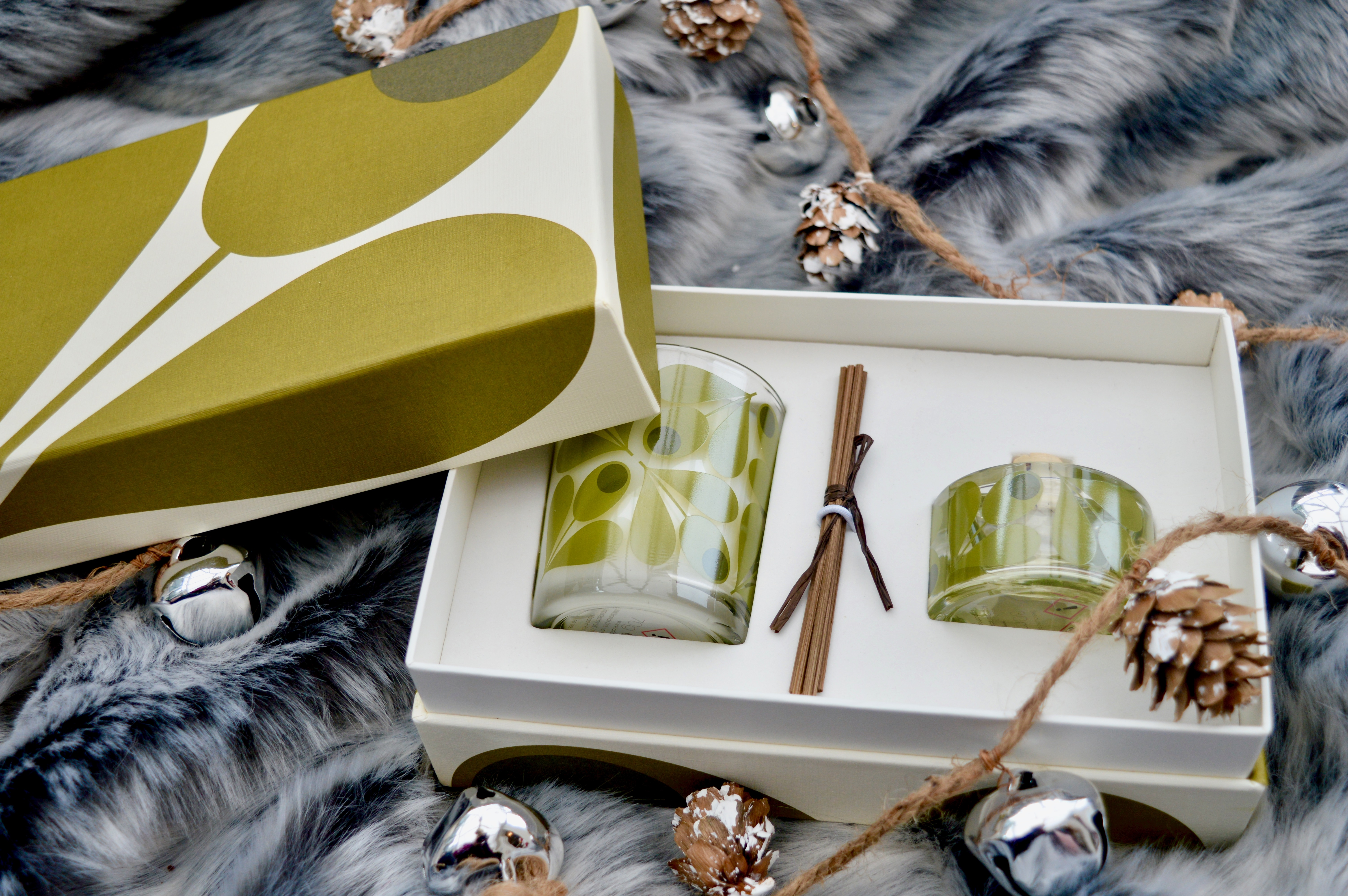 Orla Kiely Fig Tree Reed Diffuser & Candle Set | Home Interiors Gift | Christmas Gift Guide - What to buy your Grandma | Elle Blonde Luxury Lifestyle Destination Blog