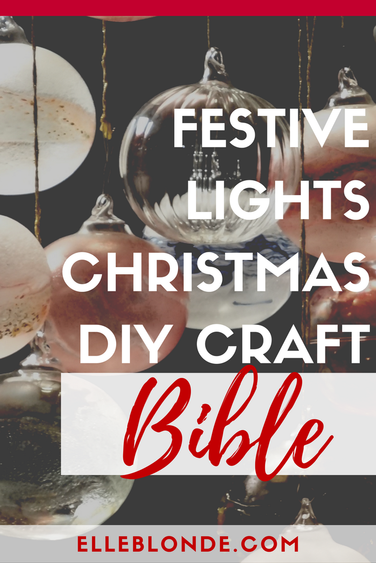 LED Lights, Pompoms, Gingerbread men - Christmas Tree Decorations | Easy to make Christmas craft ideas | Elle Blonde Luxury Lifestyle Destination Blog