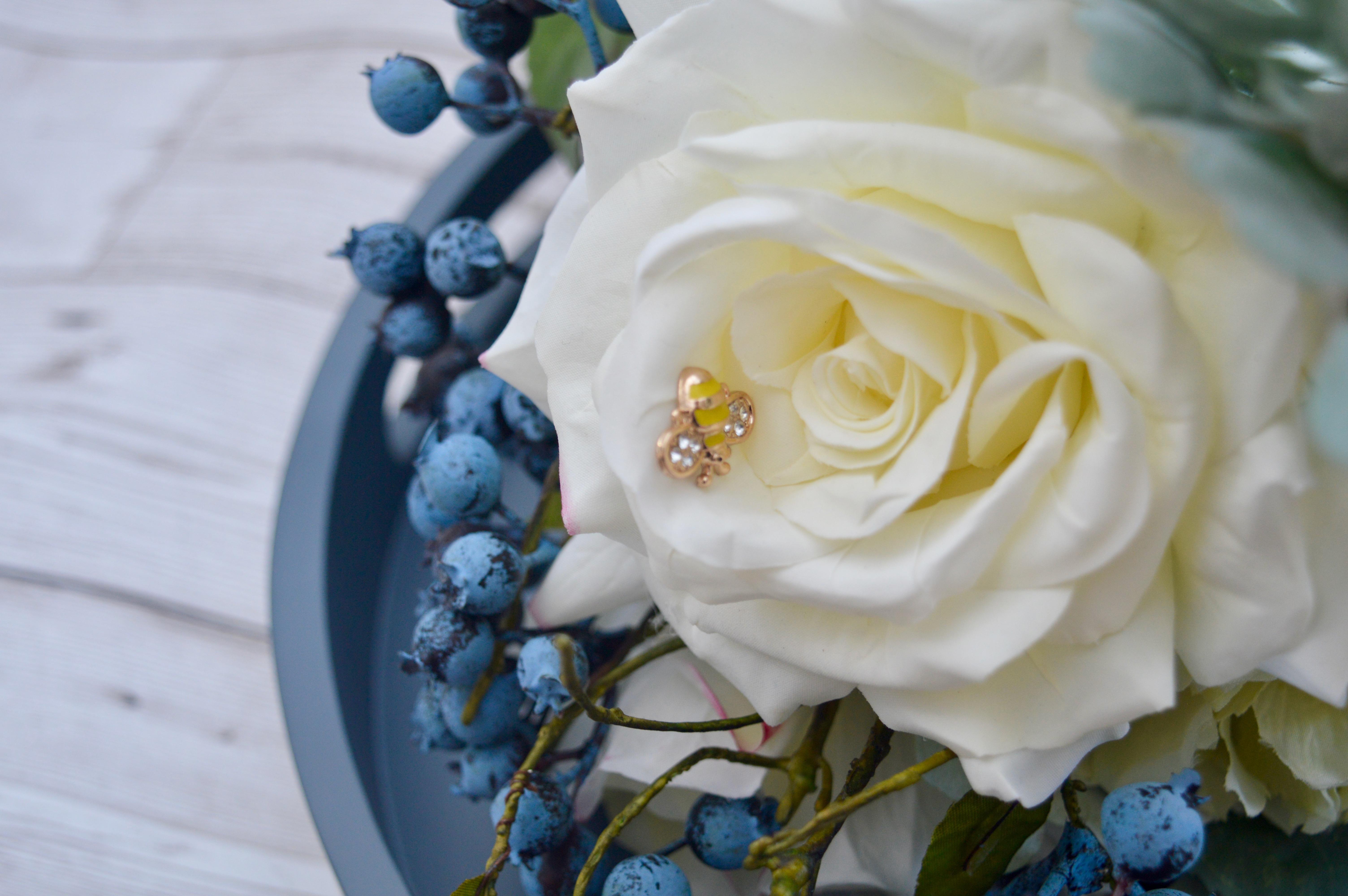 Faux Floral Bouquet Flowers with Bridgman Furniture   Home Interiors   Elle Blonde Luxury Lifestyle Destination Blog