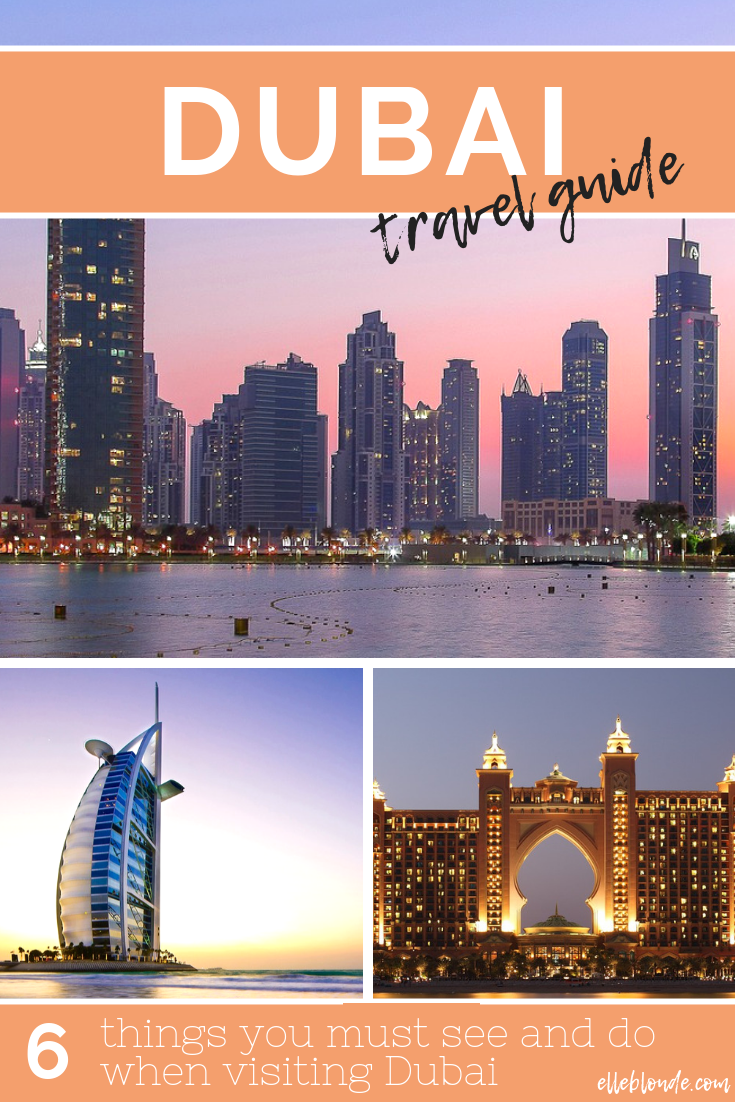 Are you looking for travel tips and inspiration for an upcoming vacation or holiday to Dubai? Our guest post discovers the top 6 things to see and do in Dubai, UAE in this easy to read, handy travel guide. From the Burj Khalifa to the Dubai Museum we have you covered for a great stay in the Pearl of the Persian Gulf | Elle Blonde Luxury Lifestyle Destination Blog