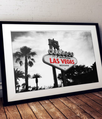 Viva Forever Black White Las Vegas Sign Red Writing Travel Prints | Elle Blonde Luxury Lifestyle Destination Blog