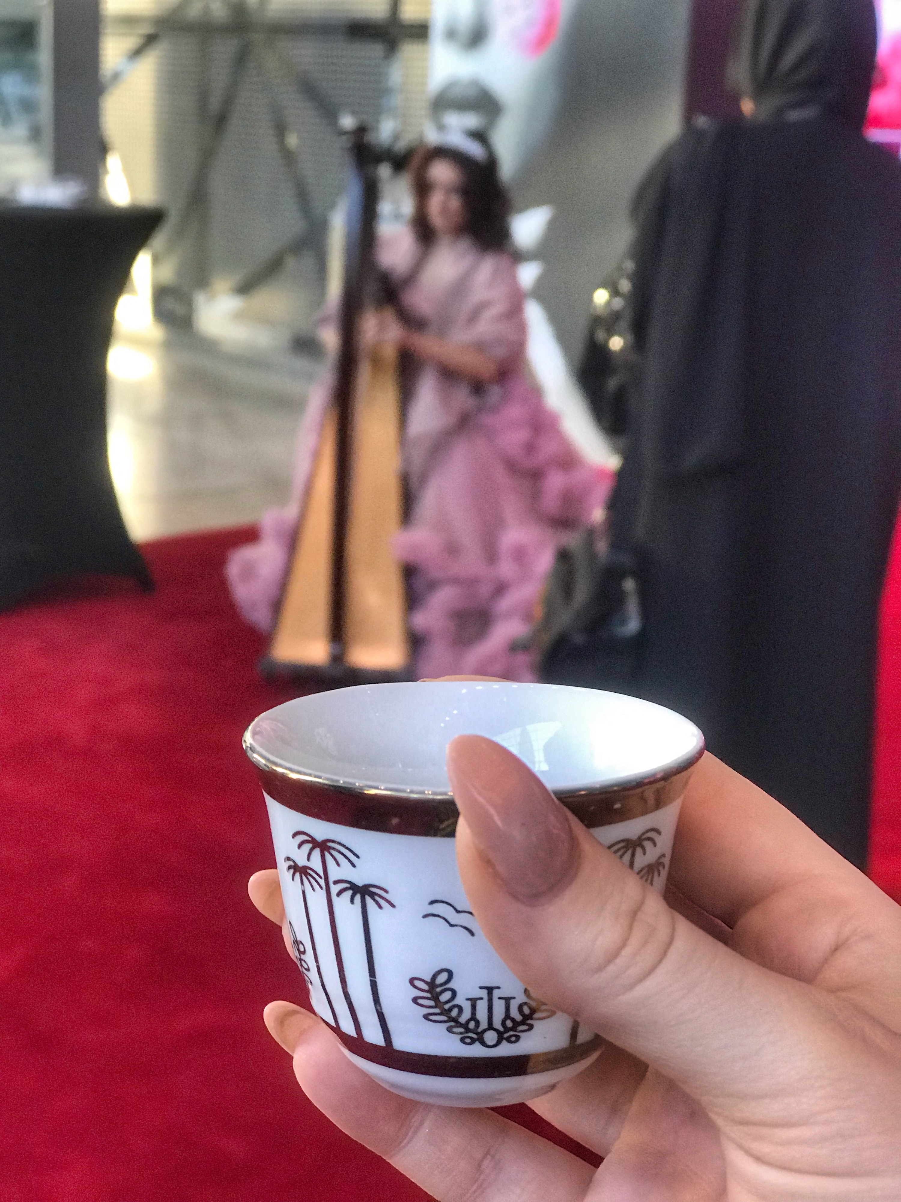 Arabic Coffee | Visit Qatar | Doha, the capital of Qatar is located in the Middle East and the World Cup 2022 location. Find out how I spent 4 days on my visit to Qatar | Travel Guide & Tips | Elle Blonde Luxury Lifestyle Destination Blog