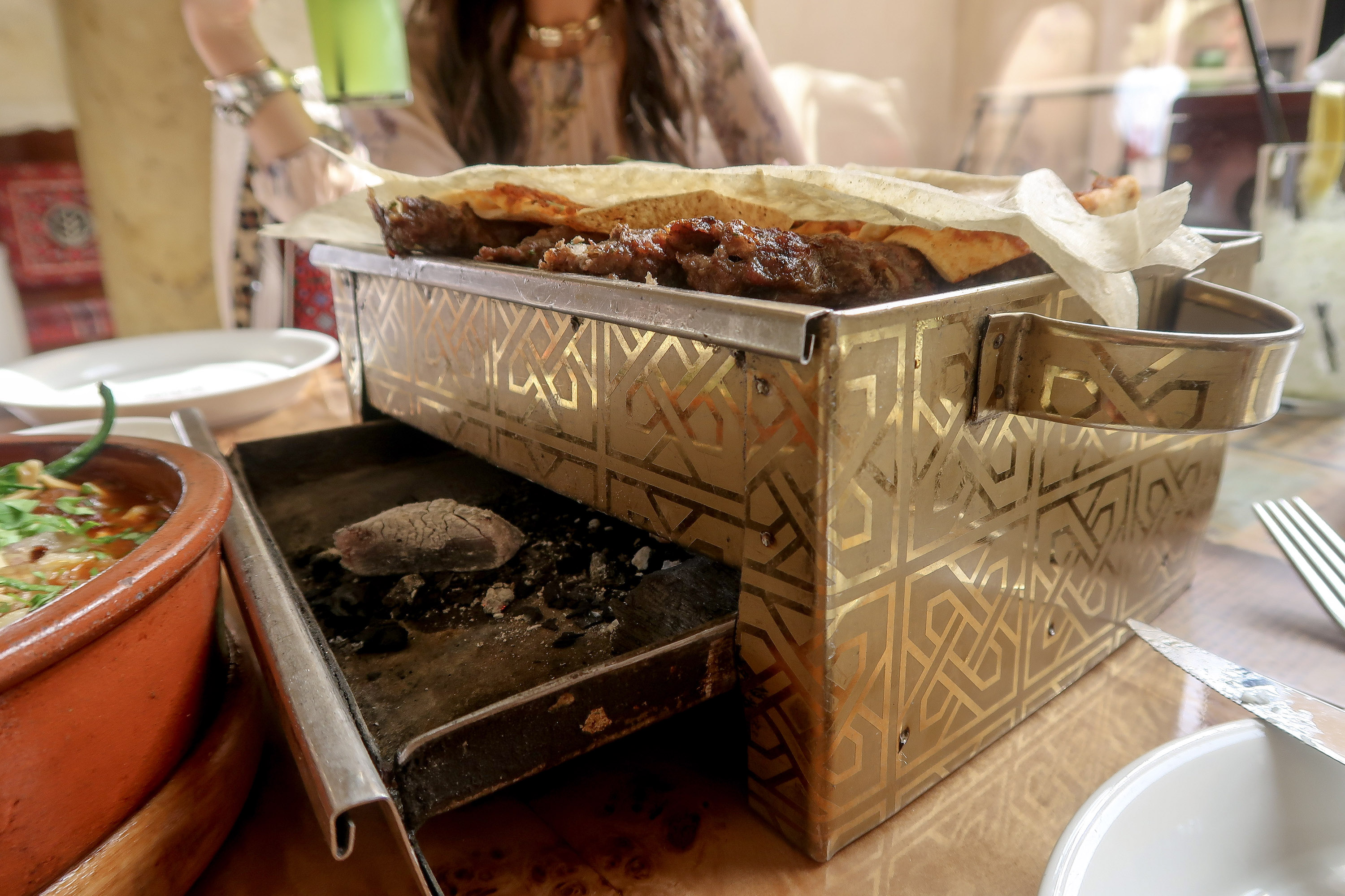 Lamb kebab, food in Qatar | Visit Qatar | Doha, the capital of Qatar is located in the Middle East and the World Cup 2022 location. Find out how I spent 4 days on my visit to Qatar | Travel Guide & Tips | Elle Blonde Luxury Lifestyle Destination Blog