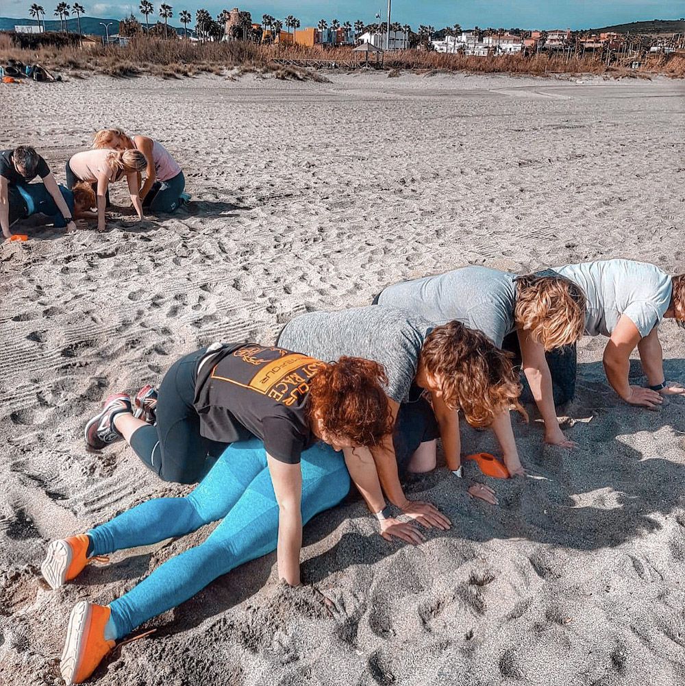 Beach Team Games | How much weight can you lose on a week boot camp? | We headed to Who Dares Slims in Andalucia, Spain to see how much weight we could lose in just one week with extreme military led fitness and a controlled diet | Fitness Blog | Elle Blonde Luxury Lifestyle Destination Blog