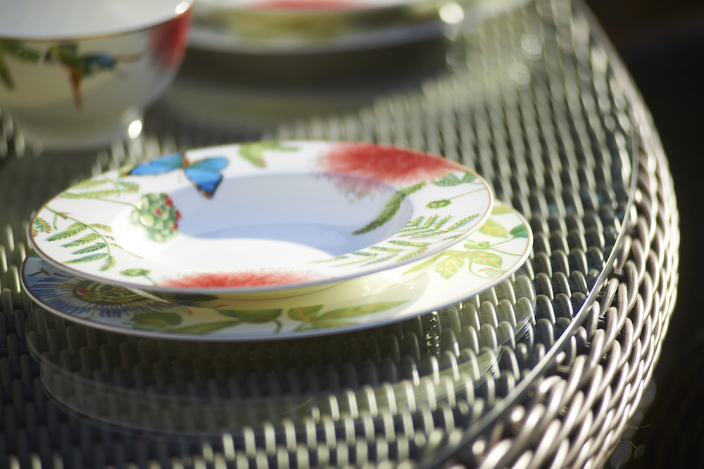 Outdoor dining plates | Villeroy & Boch Amazonia Anmut Deep Plate £55 from Bridgman | | Home Interiors | Elle Blonde Luxury Lifestyle Destination Blog