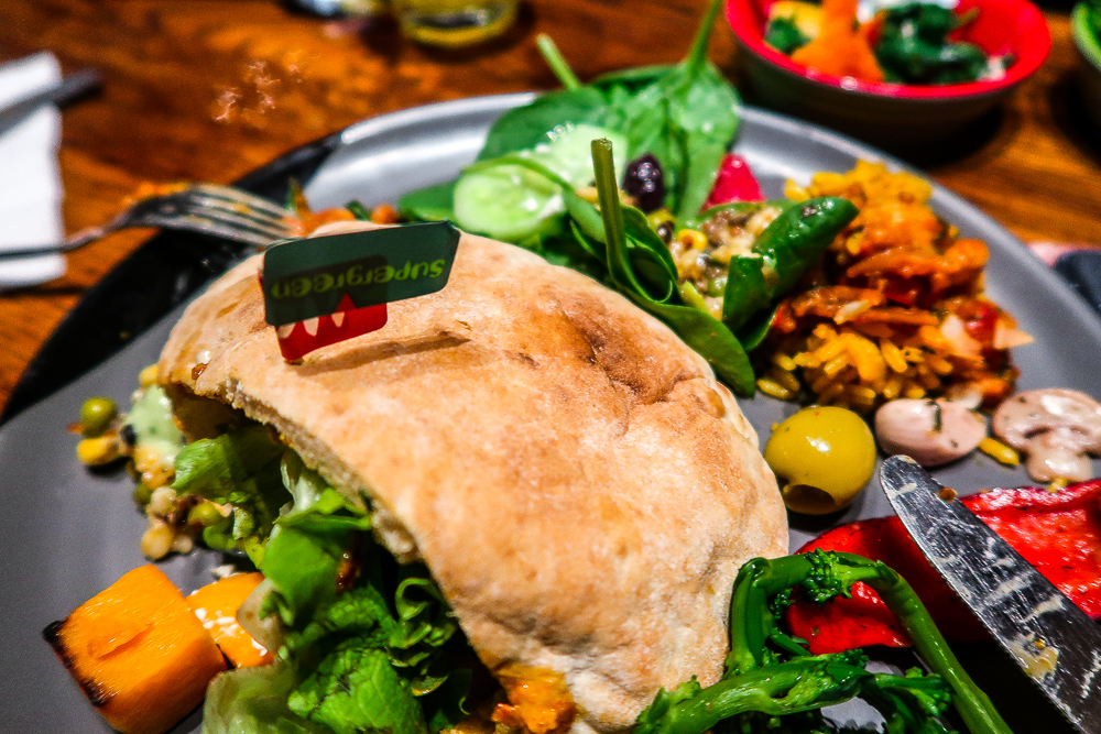 Supergreen Pitta | Nando's Sunderland | Launch new vegetarian and vegan menu and we gave it the taste test | Eating in Sunderland | Food Review | Elle Blonde Luxury Lifestyle Destination Blog