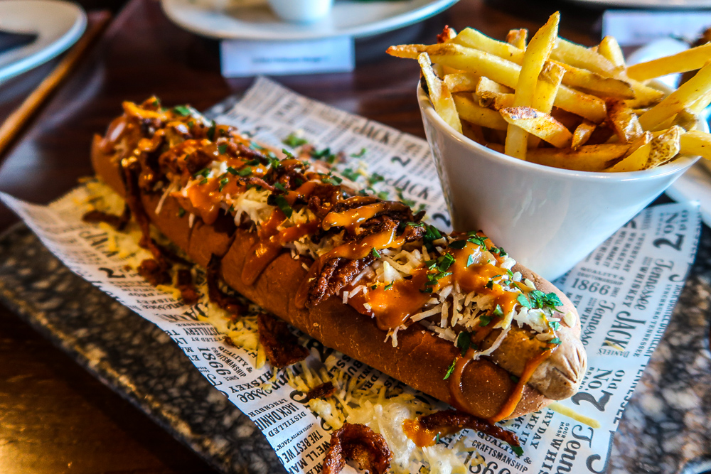 Veggie Hot Dog | Vegan, Vegetarian and Gluten Free Diets and dining at The Engine Room, The Fire Station in Sunderland | National Vegetarian Week | Elle Blonde Luxury Lifestyle Destination Blog