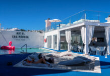 Hotel Pool - Hotel California in Albuferia Old Town, The Algarve Portugal | eco-friendly, vegan, adults-only hotel with a modern twist | On The Beach Holidays Review | Elle Blonde Luxury Lifestyle Destination Travel Blog