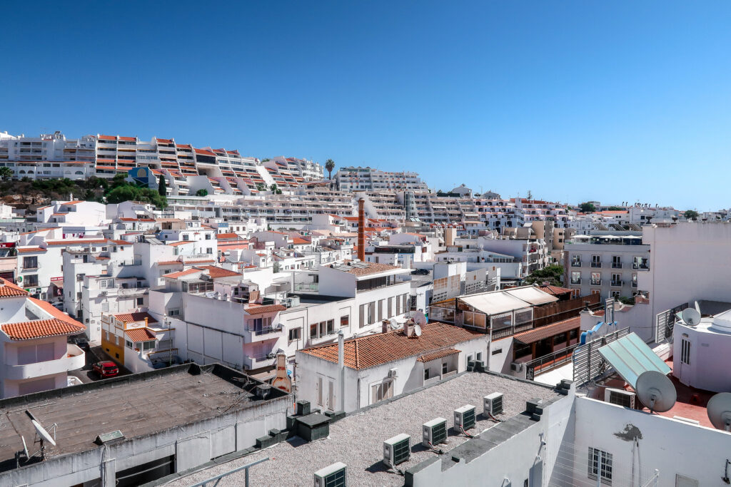 Views of the Old Town - Hotel California in Albuferia Old Town, The Algarve Portugal | eco-friendly, vegan, adults-only hotel with a modern twist | On The Beach Holidays Review | Elle Blonde Luxury Lifestyle Destination Travel Blog