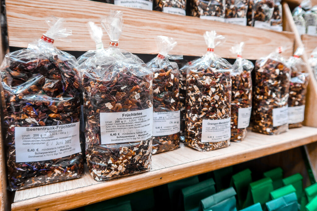 German Loose Leaf Teas | Covered Market | What to do when visiting Stuttgart for the first time | Germany travel guide | Elle Blonde Luxury Lifestyle Destination Blog