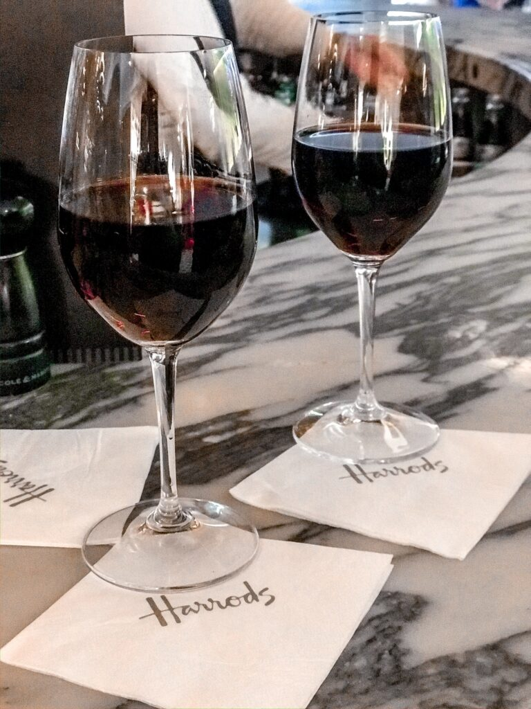 Harrods Cianti Bar | Dining in London | Review of the Restaurant | Food & Drink Guide | Elle Blonde Luxury Lifestyle Destination Blog