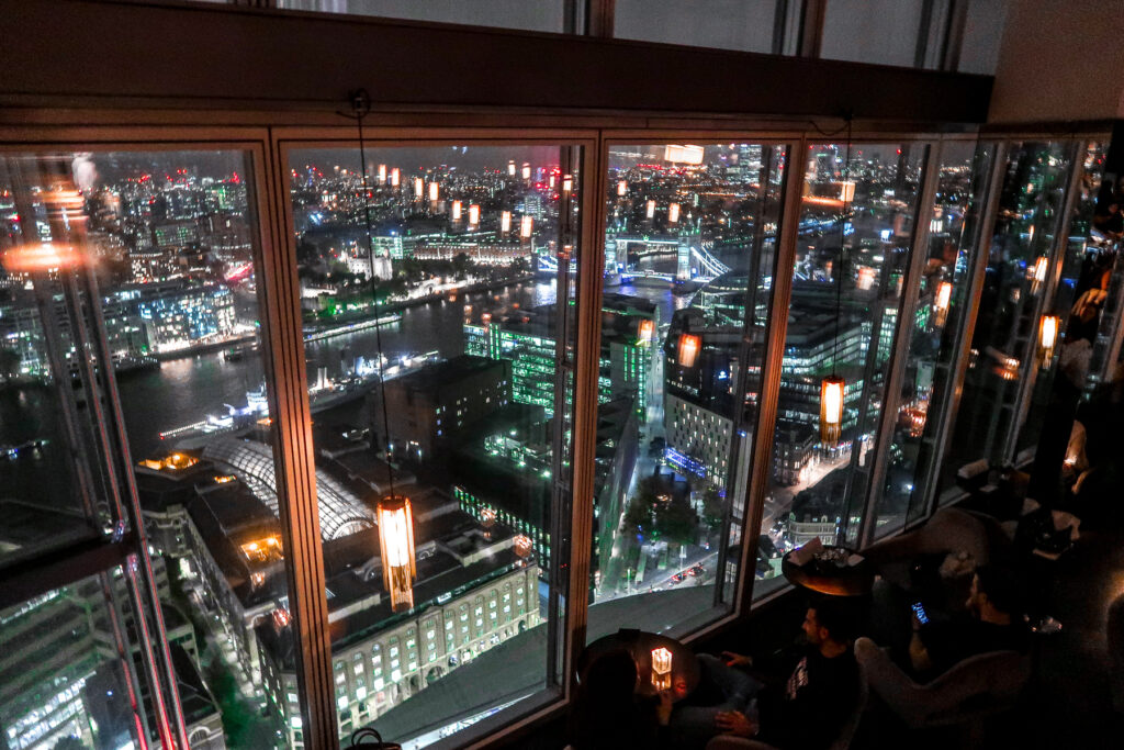 View from The Shard | Fine Dining at Aqua Shard, London Bridge Review of the Restaurant | Food & Drink Guide | Elle Blonde Luxury Lifestyle Destination Blog