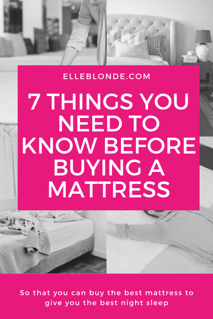 7 Tips You Need To Know Before Buying A Mattress | Home Interiors | Elle Blonde Luxury Lifestyle Destination Blog