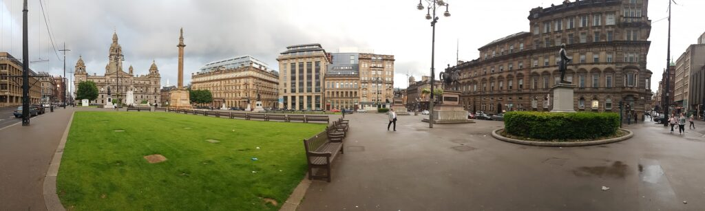 Panoramic View Of Glasgow Square | Visit Glasgow, one of Scotland's most vibrant and exciting cities | 4 Things to see and do on your UK Staycation | Travel Guide & Tips | Elle Blonde Luxury Lifestyle Destination Blog