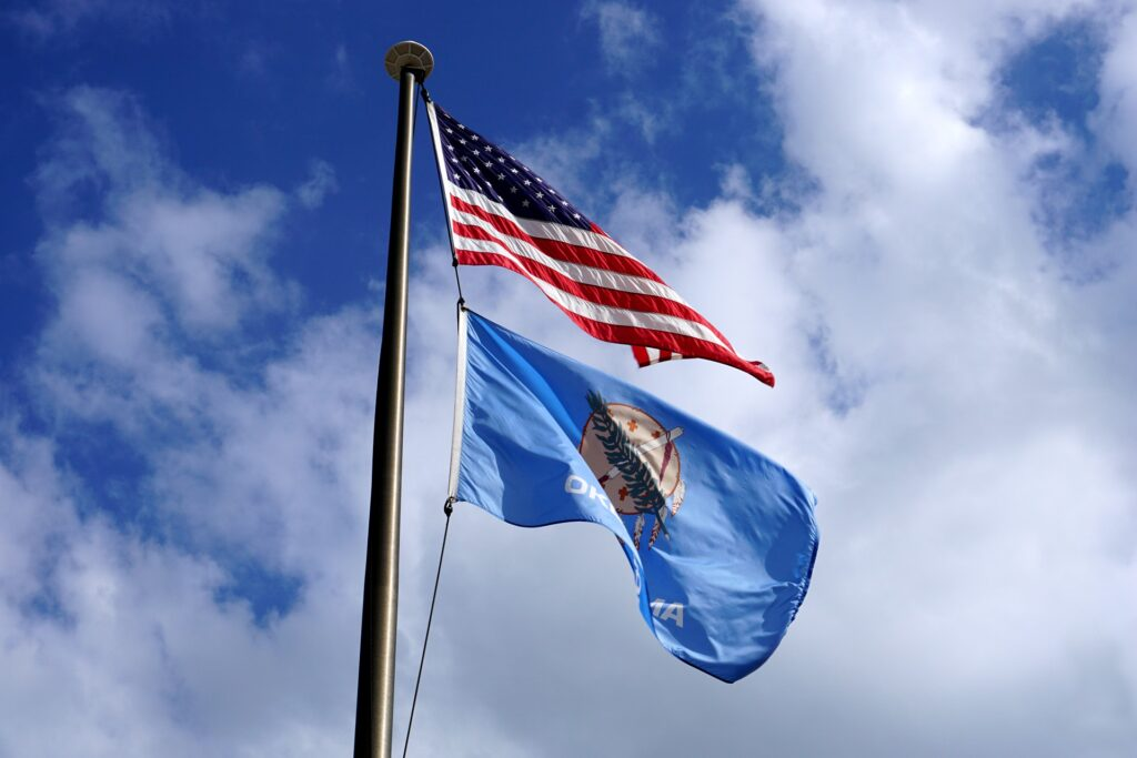 Oklahoma   8 Things You Won't Know About US State Flags   Travel Tips   Elle Blonde Luxury Lifestyle Destination Blog