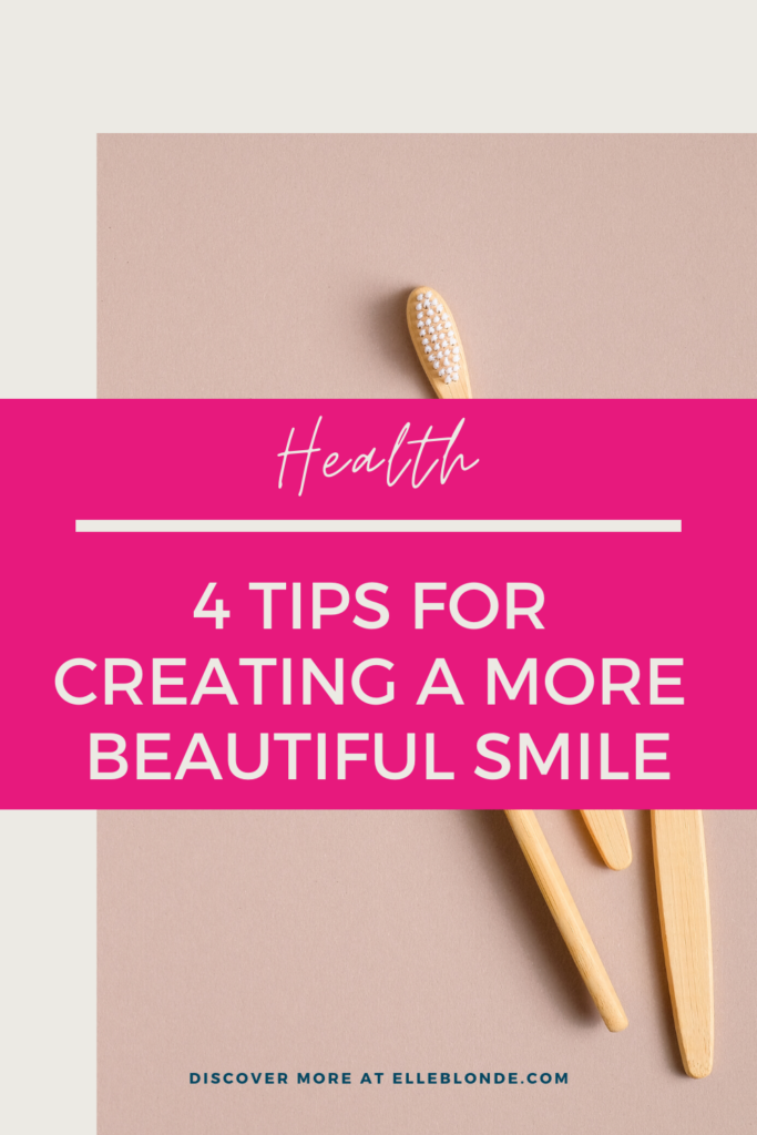 Pinterest Graphic Toothbrushes | 4 Tips For Better Oral Hygiene For A Beautiful Smile | Beauty & Health Tips | Elle Blonde Luxury Lifestyle Destination Blog
