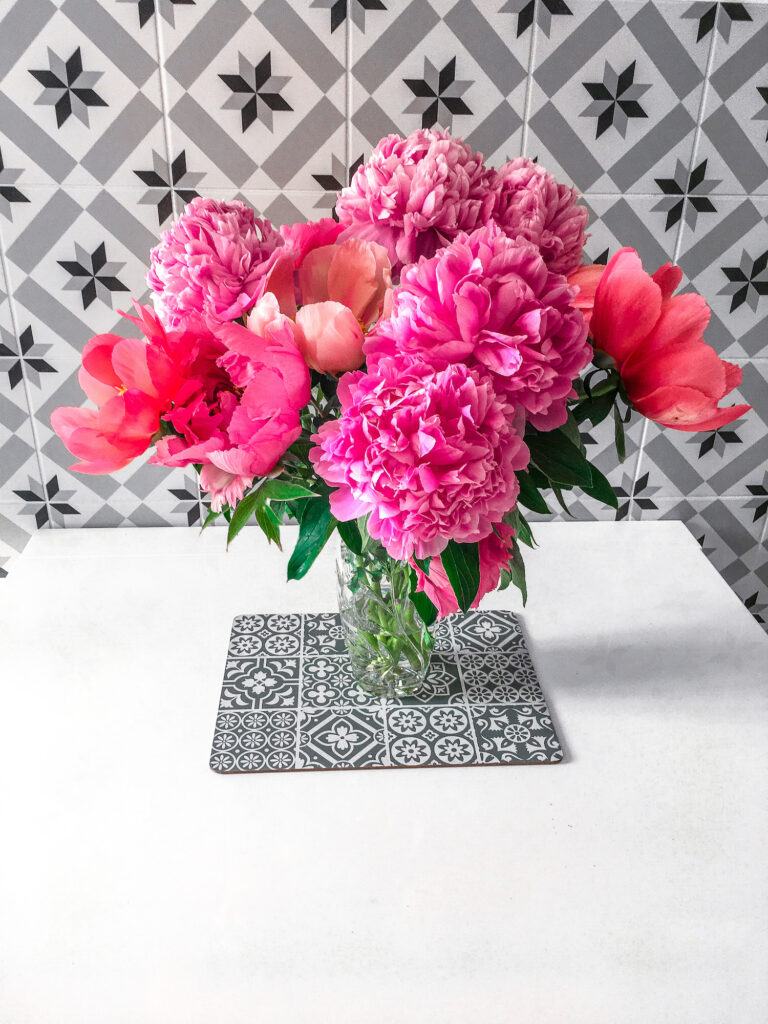 Moonpig Fresh Flower Bouquets Discount Code - Pink Peonies Review   Gifts   Elle Blonde Luxury Lifestyle Destination Blog