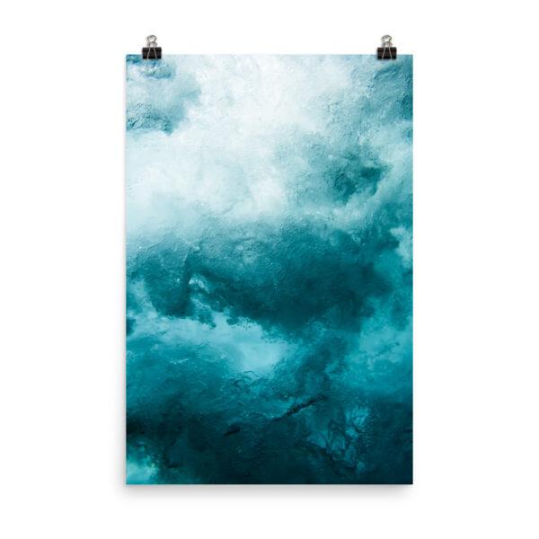 Blue Waves Print | Prints & Posters Home Interiors | Elle Blonde Luxury Lifestyle Destination Blog