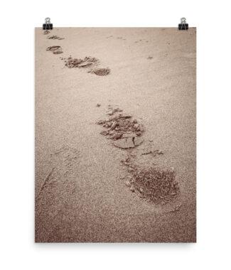 Walkin' Away Beach Footprints in Sand | Posters & Prints Home Decor | Elle Blonde Luxury Lifestyle Destination Blog