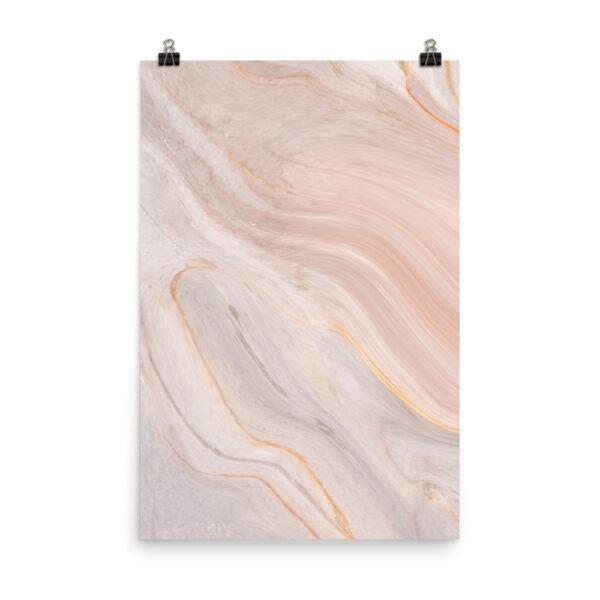 Muted Serenity - Pink Marble Print | Home Interiors | Elle Blonde Luxury Lifestyle Destination Blog