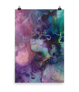 Purple Reign Abstract Print Poster | Home Interiors | Elle Blonde Luxury Lifestyle Destination Blog