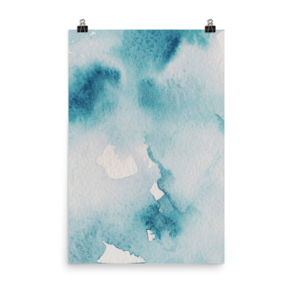 The Teal Kiss - Teal Watercolour Style Print   Prints and Posters   Home Interiors   Elle Blonde Luxury Lifestyle Destination Blog