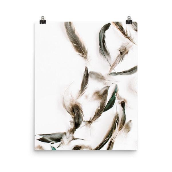 Grey Feather Print| Prints & Posters Home Interiors | Elle Blonde Luxury Lifestyle Destination Blog