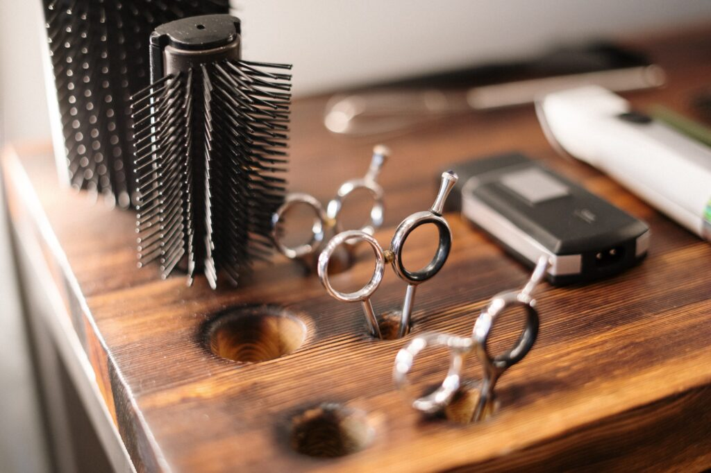 Scissors and brushes | 8 Easy Ways to Maintain a Hairstyle | Beauty | Elle Blonde Luxury Lifestyle Destination