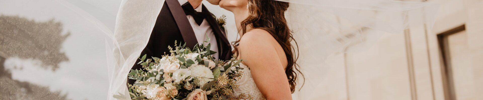 Married couple Wedding shoes | 8 Beautiful Ways to Use Satin Ribbons in Weddings | Wedding Tips | Elle Blonde Luxury Lifestyle Destination Blog
