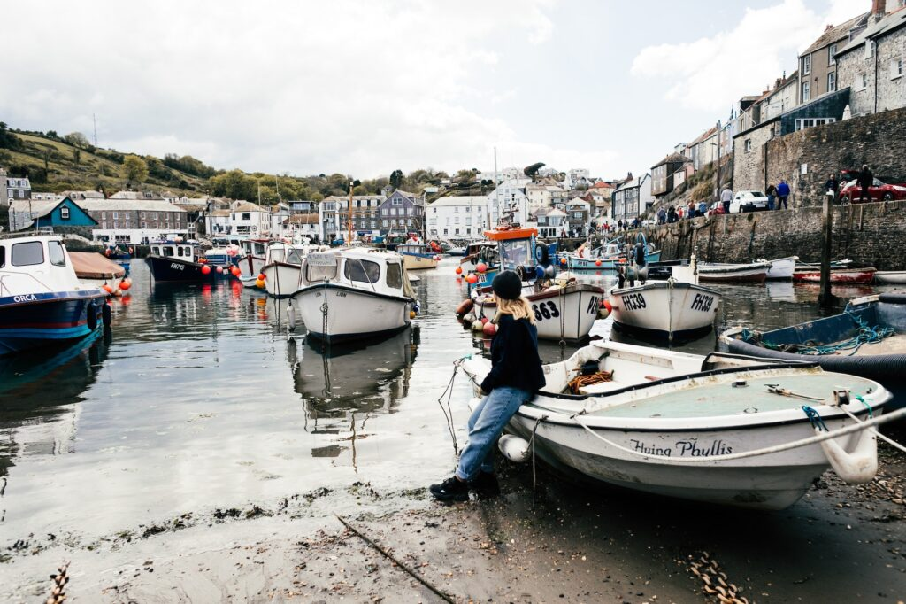 Portleven harbour boats | | Top 5 incredible places to visit on your Cornwall staycation | Travel Tips | Elle Blonde Luxury Lifestyle Destination Blog