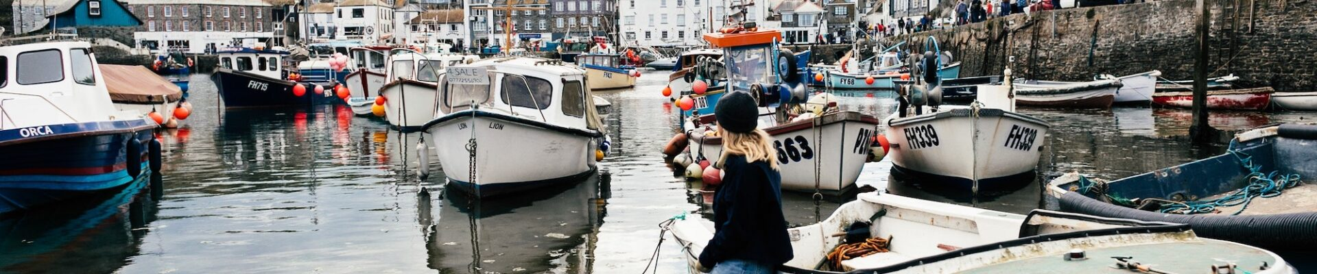 Portleven harbour boats     Top 5 incredible places to visit on your Cornwall staycation   Travel Tips   Elle Blonde Luxury Lifestyle Destination Blog